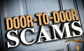 Door to Door Scam in text