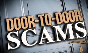 Door to Door Scam in text
