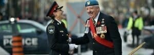 Chief at Remembrance Day Parade