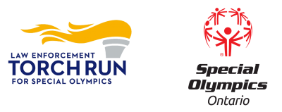 Logos for the Law Enforcement Torch Fun for Special Olympics beside the Special Olympics Ontario logo.