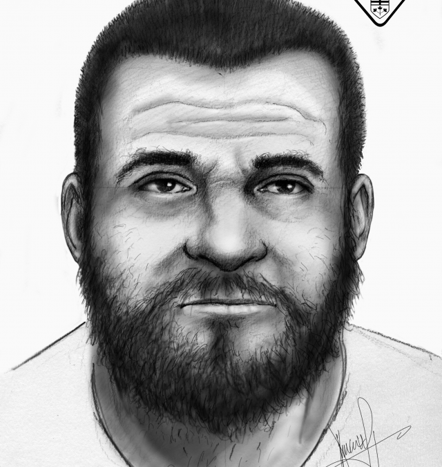UPDATE – Barrie Police Investigating Overnight Break and Enter – Composite Sketch of Suspect Released