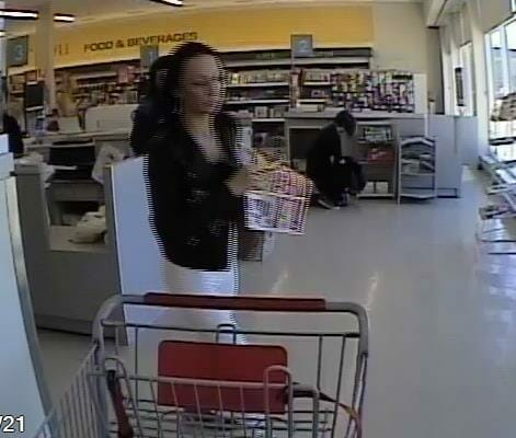 Female suspect in shoplifting at Shoppers Drug Mart