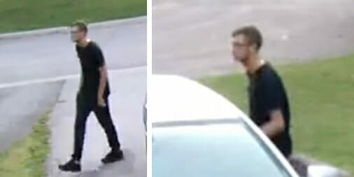 Police looking to speak with male spotted checking car door handles