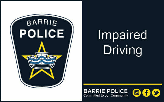 Impaired Driving charges laid against young offender