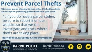Prevent Parcel Thefts Tip 1: report stolen packages