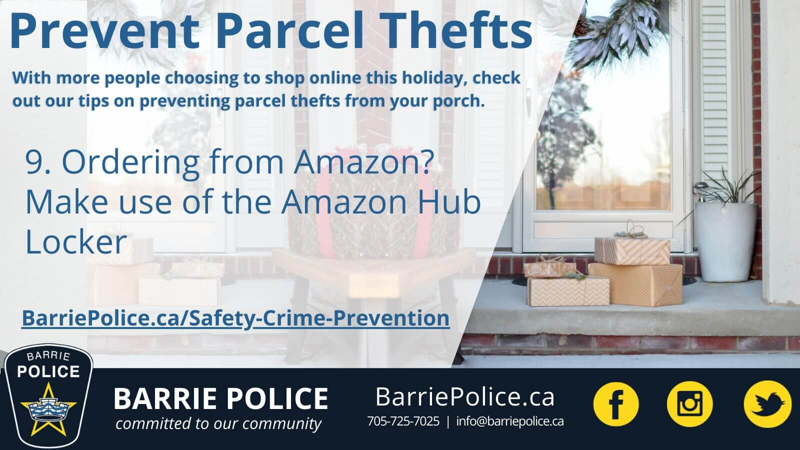Prevent Parcel Thefts Tip 9: Use Amazon Hub Lockers