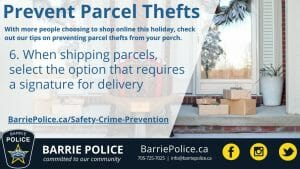 Prevent Parcel Thefts Tip 6: Request a signature on deliveries