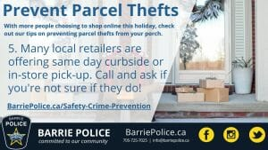 Prevent Parcel Thefts Tip 5: Call and ask if local retailers are doing curb-side pick up