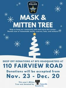 2020 Mitten and Mask Tree Poster