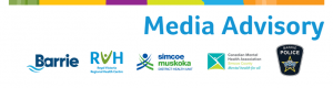 Media Release Header - Joint with Barrie, RVH, SMDHU, CMHA and BPS
