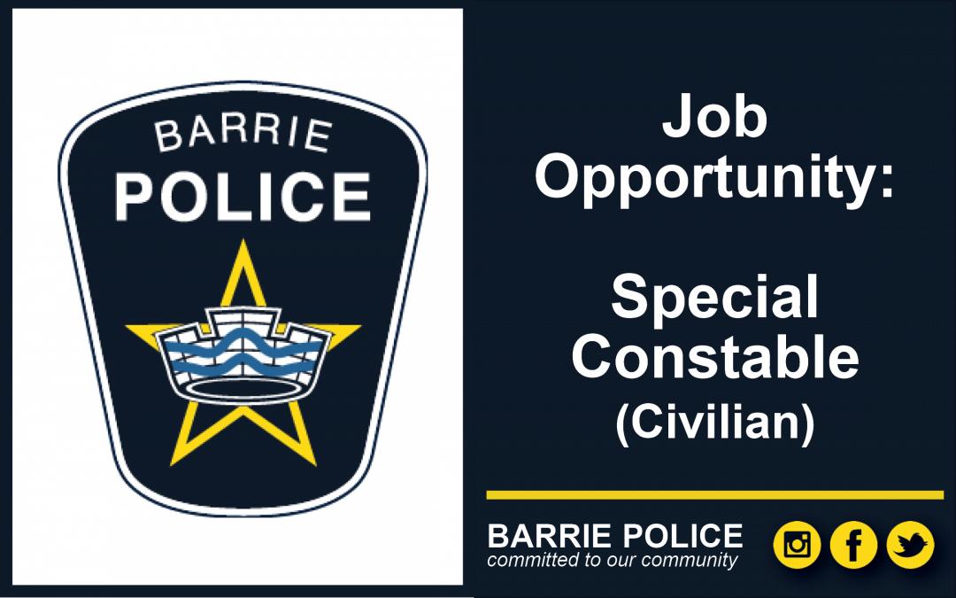 Job Opportunity: Casual Special Constable (civilian)