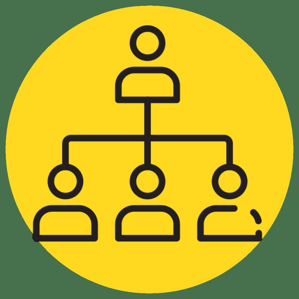 Organizational Chart Navigation Icon
