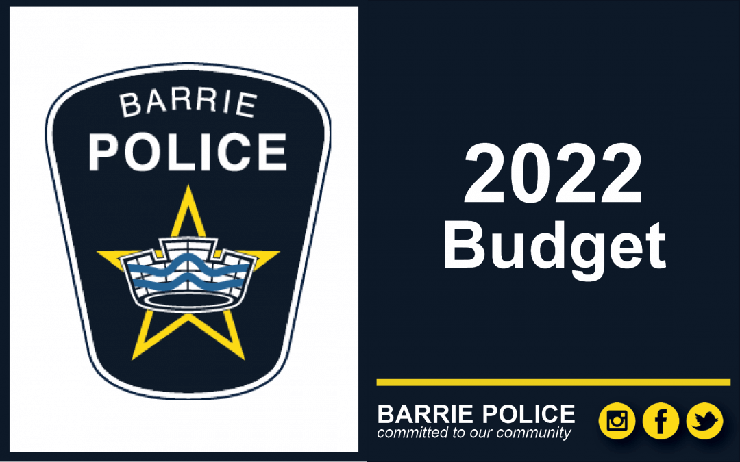 Barrie Police Services Board – Budget Presentation Meeting